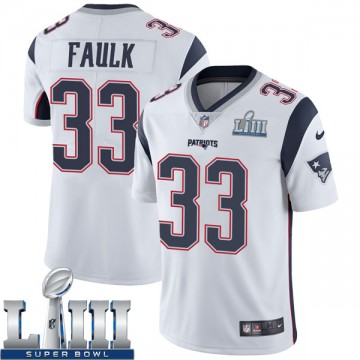 Youth Nike New England Patriots Kevin Faulk White Super Bowl LIII Vapor Untouchable Jersey - Limited
