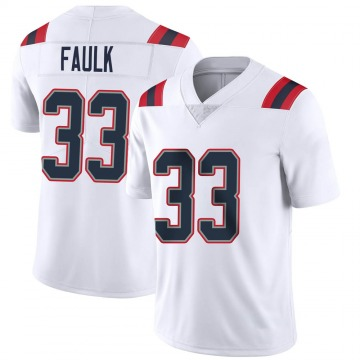 Youth Nike New England Patriots Kevin Faulk White Vapor Untouchable Jersey - Limited