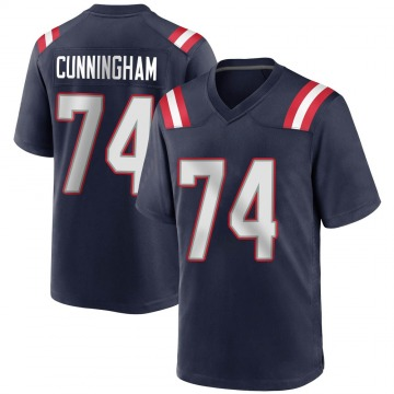 Youth Nike New England Patriots Korey Cunningham Navy Blue Team Color Jersey - Game