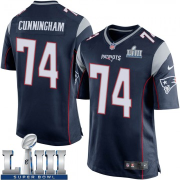 Youth Nike New England Patriots Korey Cunningham Navy Blue Team Color Super Bowl LIII Jersey - Game