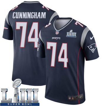 Youth Nike New England Patriots Korey Cunningham Navy Super Bowl LIII Jersey - Legend