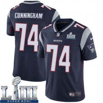 Youth Nike New England Patriots Korey Cunningham Navy Team Color Super Bowl LIII Vapor Untouchable Jersey - Limited