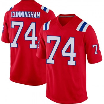 Youth Nike New England Patriots Korey Cunningham Red Alternate Jersey - Game