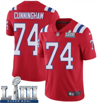 Youth Nike New England Patriots Korey Cunningham Red Super Bowl LIII Vapor Untouchable Alternate Jersey - Limited