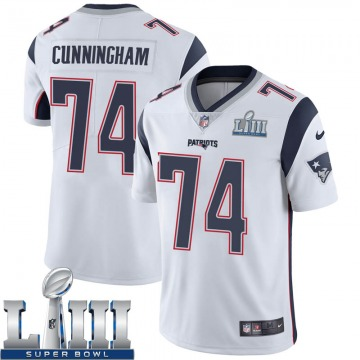 Youth Nike New England Patriots Korey Cunningham White Super Bowl LIII Vapor Untouchable Jersey - Limited