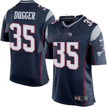 Youth Nike New England Patriots Kyle Dugger Navy Blue Team Color Jersey - Game