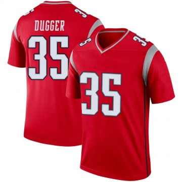 Youth Nike New England Patriots Kyle Dugger Red Inverted Jersey - Legend