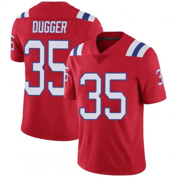Youth Nike New England Patriots Kyle Dugger Red Vapor Untouchable Alternate Jersey - Limited
