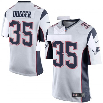 Youth Nike New England Patriots Kyle Dugger White Jersey - Game