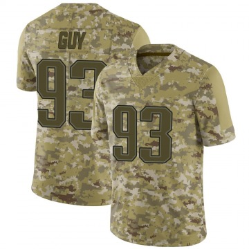 Youth Nike New England Patriots Lawrence Guy Camo 2018 Salute to Service Jersey - Limited