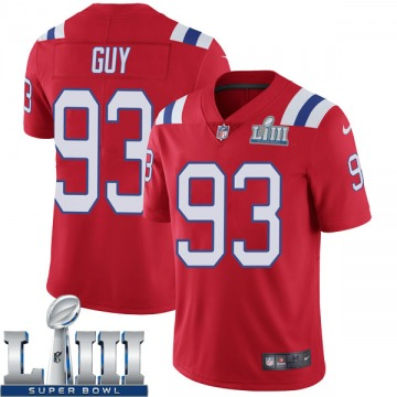 Youth Nike New England Patriots Lawrence Guy Red Super Bowl LIII Vapor Untouchable Alternate Jersey - Limited