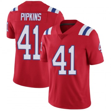 Youth Nike New England Patriots Lenzy Pipkins Red Vapor Untouchable Alternate Jersey - Limited