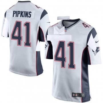 Youth Nike New England Patriots Lenzy Pipkins White Jersey - Game