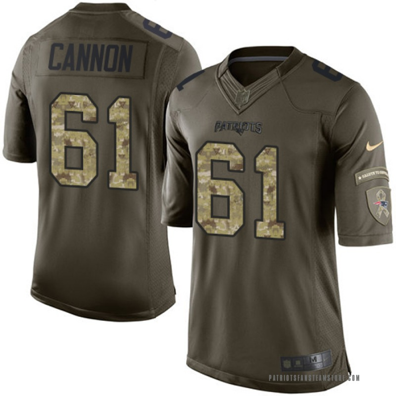 best authentic b8ae0 892ba Youth Nike New England Patriots Marcus Cannon Green Salute to Service  Jersey - Limited
