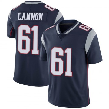 Youth Nike New England Patriots Marcus Cannon Navy 100th Vapor Jersey - Limited