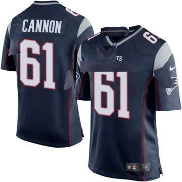 Youth Nike New England Patriots Marcus Cannon Navy Blue Team Color Jersey - Game