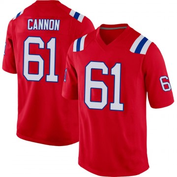Youth Nike New England Patriots Marcus Cannon Red Alternate Jersey - Game