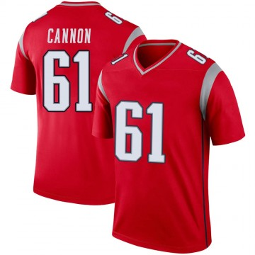 Youth Nike New England Patriots Marcus Cannon Red Inverted Jersey - Legend