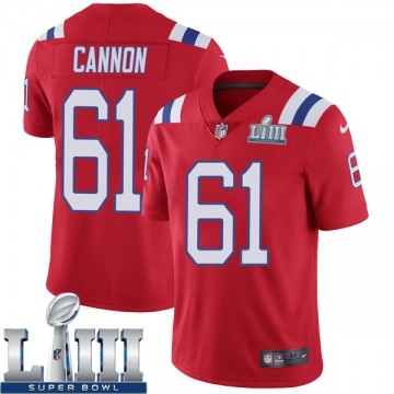 Youth Nike New England Patriots Marcus Cannon Red Super Bowl LIII Vapor Untouchable Alternate Jersey - Limited