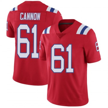 Youth Nike New England Patriots Marcus Cannon Red Vapor Untouchable Alternate Jersey - Limited