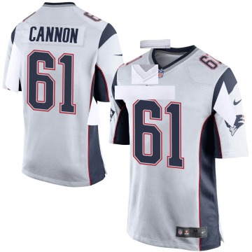 Youth Nike New England Patriots Marcus Cannon White Jersey - Game