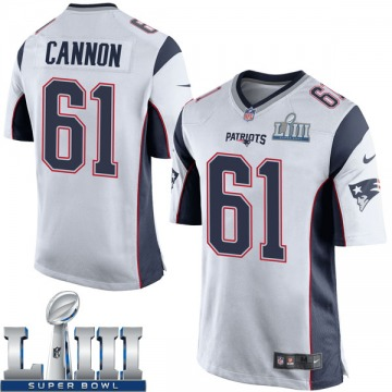 Youth Nike New England Patriots Marcus Cannon White Super Bowl LIII Jersey - Game
