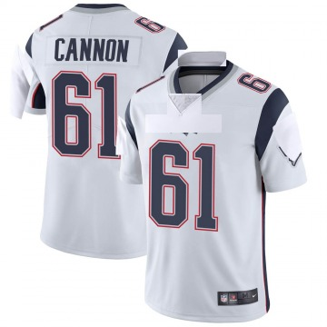 Youth Nike New England Patriots Marcus Cannon White Vapor Untouchable Jersey - Limited