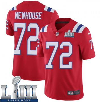 Youth Nike New England Patriots Marshall Newhouse Red Super Bowl LIII Vapor Untouchable Alternate Jersey - Limited