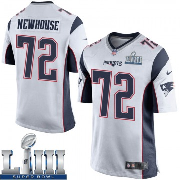 Youth Nike New England Patriots Marshall Newhouse White Super Bowl LIII Jersey - Game