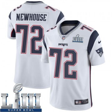 Youth Nike New England Patriots Marshall Newhouse White Super Bowl LIII Vapor Untouchable Jersey - Limited