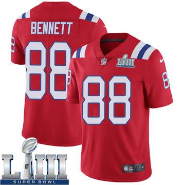 Youth Nike New England Patriots Martellus Bennett Red Super Bowl LIII Vapor Untouchable Alternate Jersey - Limited