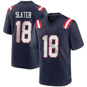 Youth Nike New England Patriots Matthew Slater Navy Blue Team Color Jersey - Game