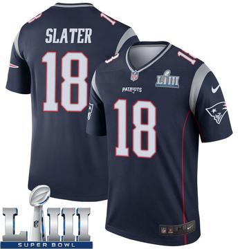Youth Nike New England Patriots Matthew Slater Navy Super Bowl LIII Jersey - Legend