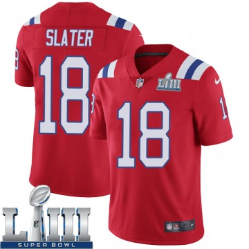 Youth Nike New England Patriots Matthew Slater Red Super Bowl LIII Vapor Untouchable Alternate Jersey - Limited