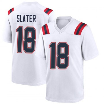 Youth Nike New England Patriots Matthew Slater White Jersey - Game