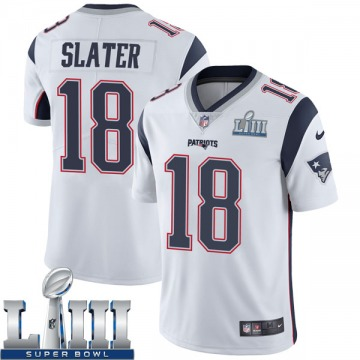 Youth Nike New England Patriots Matthew Slater White Super Bowl LIII Vapor Untouchable Jersey - Limited