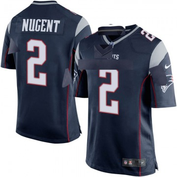 Youth Nike New England Patriots Mike Nugent Navy Blue Team Color Jersey - Game
