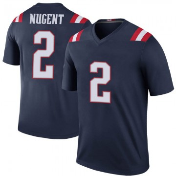 Youth Nike New England Patriots Mike Nugent Navy Color Rush Jersey - Legend