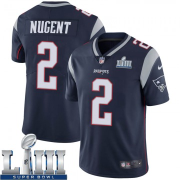 Youth Nike New England Patriots Mike Nugent Navy Team Color Super Bowl LIII Vapor Untouchable Jersey - Limited