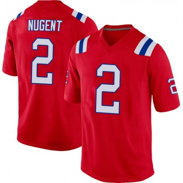 Youth Nike New England Patriots Mike Nugent Red Alternate Jersey - Game