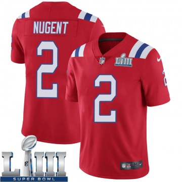 Youth Nike New England Patriots Mike Nugent Red Super Bowl LIII Vapor Untouchable Alternate Jersey - Limited