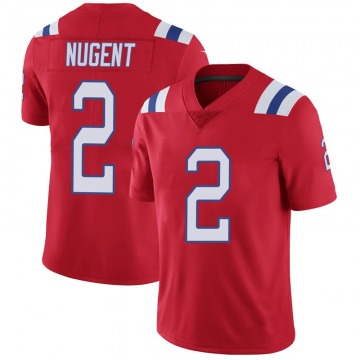 Youth Nike New England Patriots Mike Nugent Red Vapor Untouchable Alternate Jersey - Limited