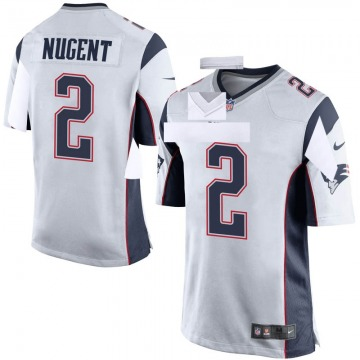Youth Nike New England Patriots Mike Nugent White Jersey - Game
