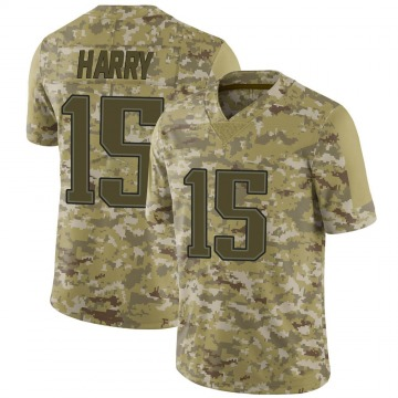 Youth Nike New England Patriots N'Keal Harry Camo 2018 Salute to Service Jersey - Limited