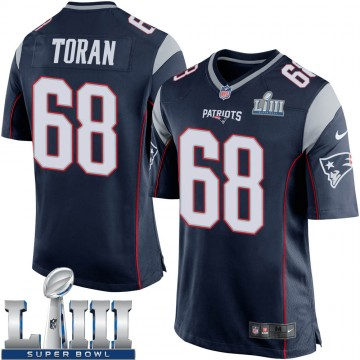Youth Nike New England Patriots Najee Toran Navy Blue Team Color Super Bowl LIII Jersey - Game