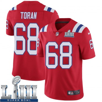 Youth Nike New England Patriots Najee Toran Red Super Bowl LIII Vapor Untouchable Alternate Jersey - Limited