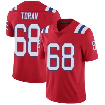 Youth Nike New England Patriots Najee Toran Red Vapor Untouchable Alternate Jersey - Limited