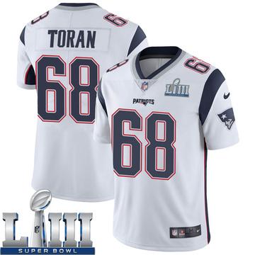 Youth Nike New England Patriots Najee Toran White Super Bowl LIII Vapor Untouchable Jersey - Limited