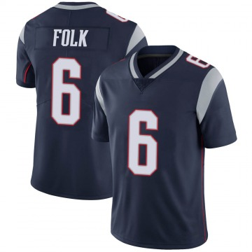 Youth Nike New England Patriots Nick Folk Navy 100th Vapor Jersey - Limited