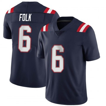 Youth Nike New England Patriots Nick Folk Navy Team Color Vapor Untouchable Jersey - Limited